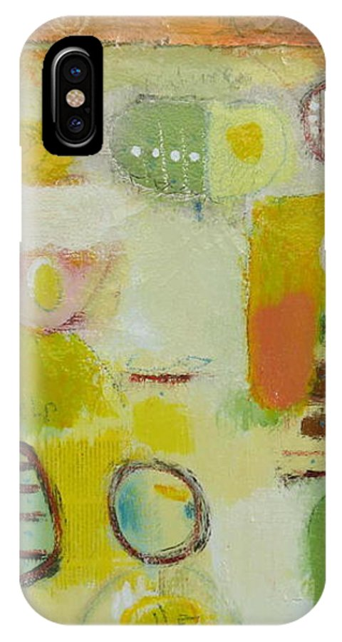 IPhone Case featuring the painting Abstract Life 2 by Habib Ayat