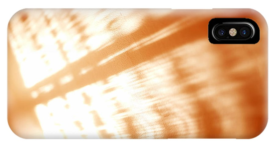 Abstract IPhone X Case featuring the photograph Abstract light rays by Tony Cordoza