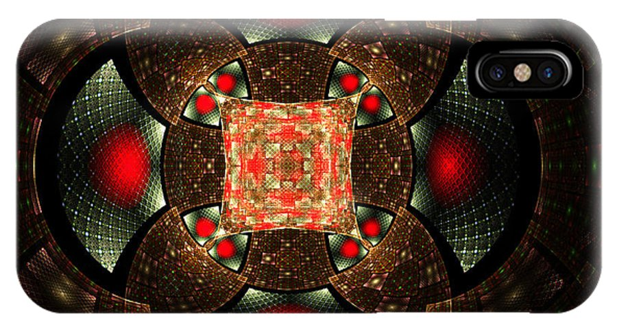 Elena Riim IPhone X Case featuring the digital art Abstract Mandala 2 by Elena Riim