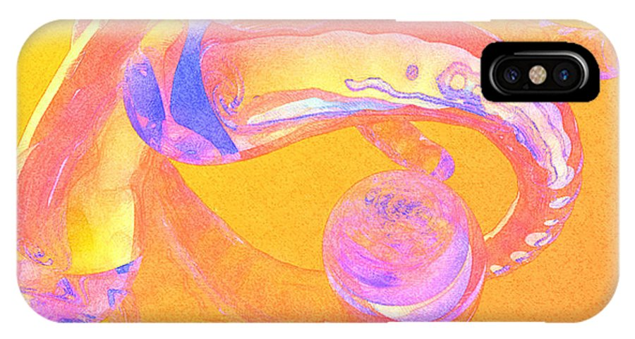 Glass IPhone Case featuring the painting Abstract Number 2 by Peter J Sucy