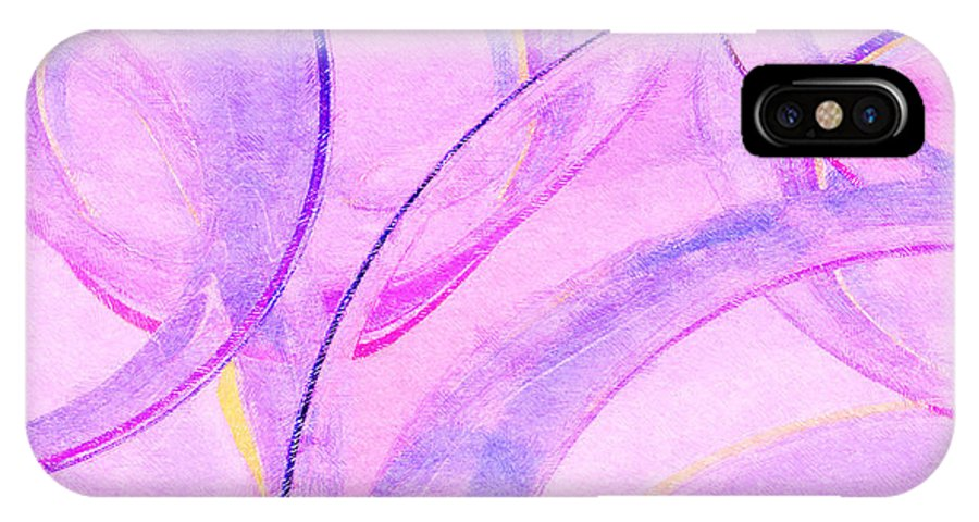 Glass IPhone X Case featuring the painting Abstract Number 20 by Peter J Sucy