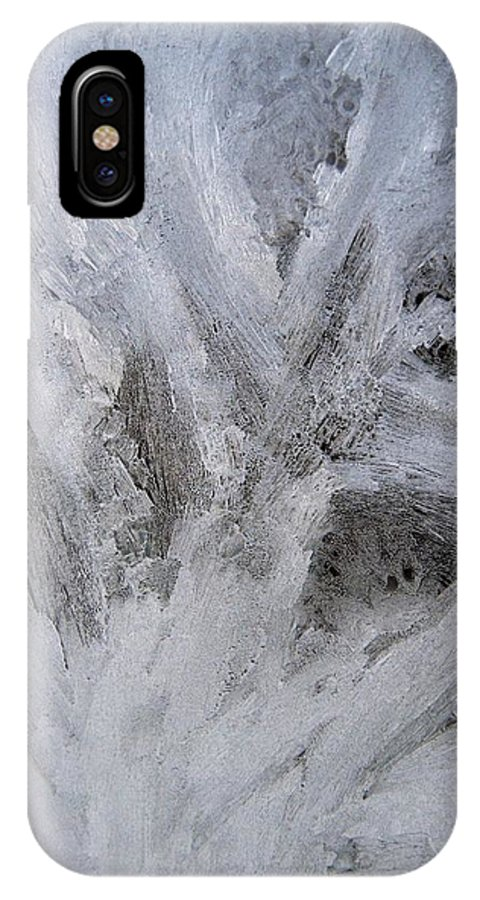 Ice IPhone X Case featuring the photograph Abstract Of Ice by Rhonda Barrett