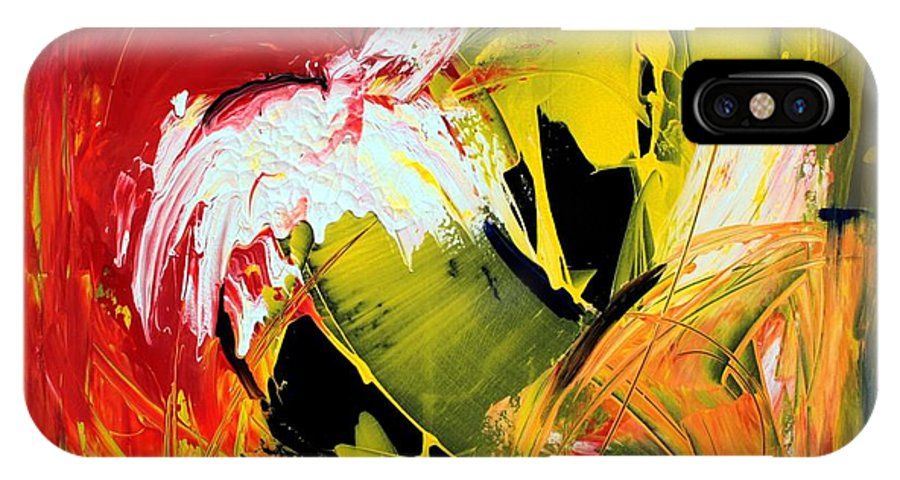 Abstarct IPhone X Case featuring the painting Abstract Painting by Mario Zampedroni