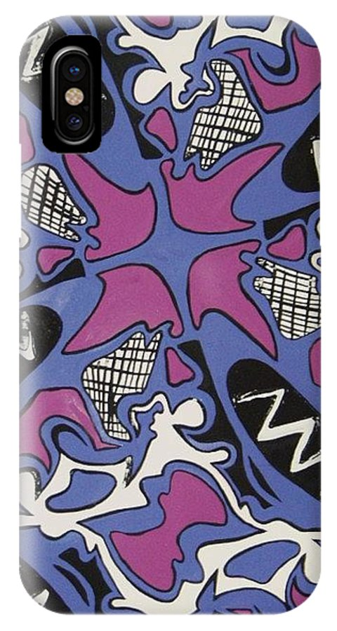 Pattern IPhone X Case featuring the painting Abstract Pattern by Jamey Balester