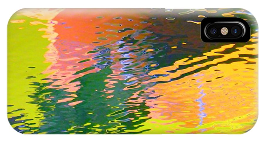 Abstract IPhone X Case featuring the photograph Abstract Reflection In Water 04 by Henry Murray