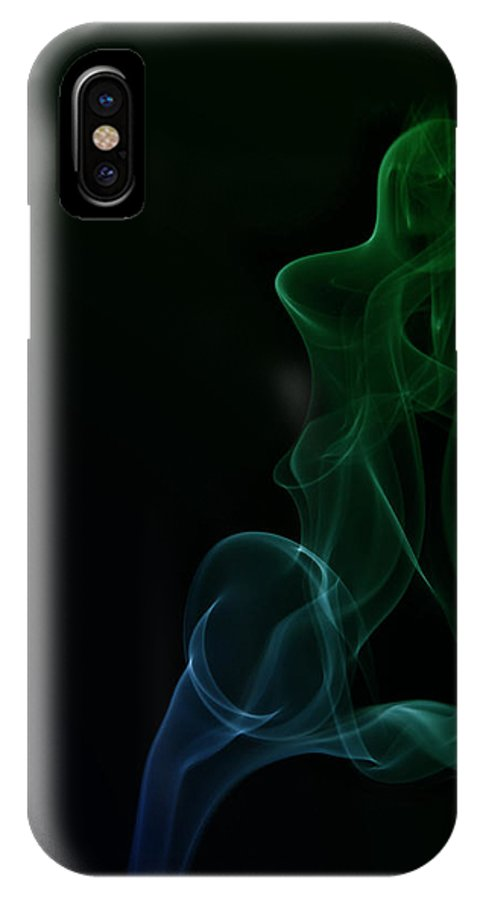 Abstract Smoke IPhone X Case featuring the photograph Abstract Smoke by Ilze Lucero