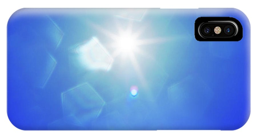 Abstract IPhone X Case featuring the photograph Abstract Sunlight by Atiketta Sangasaeng