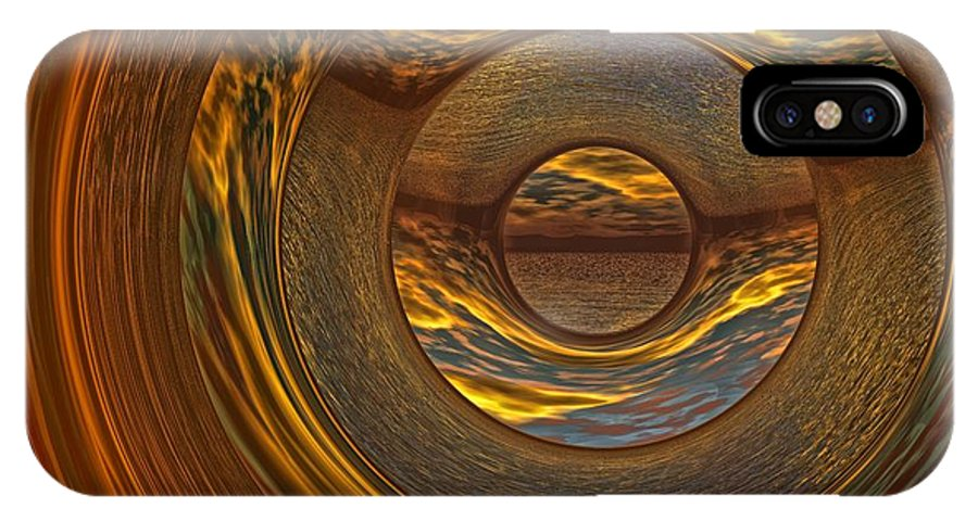 Bryce IPhone X Case featuring the digital art Abstract Sunset by Lyle Hatch