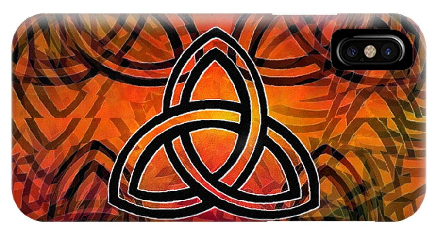 Glenn Mccarthy IPhone X Case featuring the digital art Abstract - Trinity by Glenn McCarthy Art and Photography
