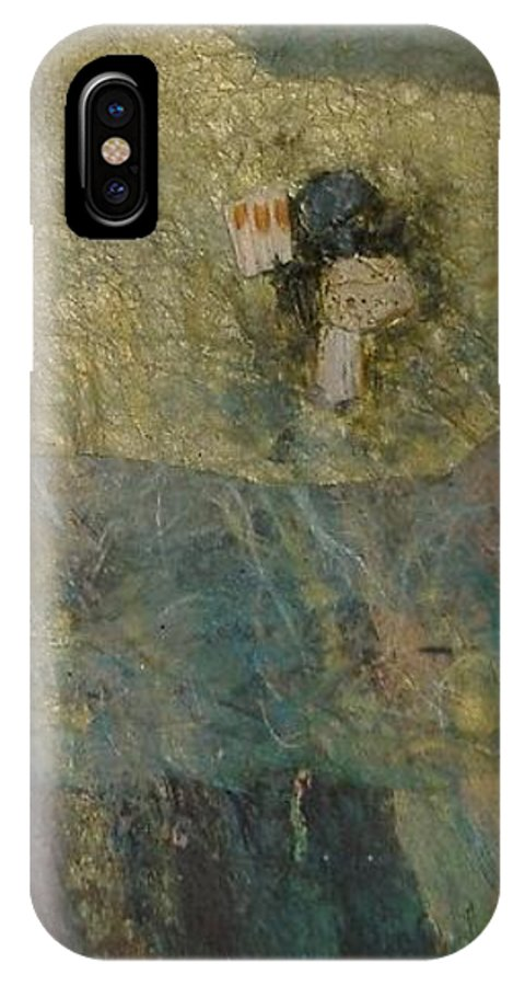 Abstract IPhone X Case featuring the mixed media Abstract Two by Pat Snook