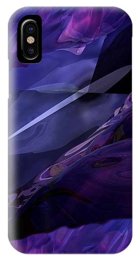 Abstract IPhone X Case featuring the digital art Abstractbr6-1 by David Lane