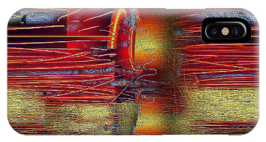 Digital IPhone X / XS Case featuring the digital art Abstrakt 53 by Ilona Burchard