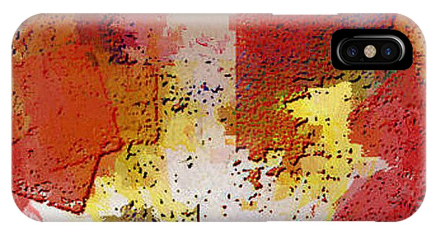 Digital IPhone X Case featuring the digital art Abstrakt in Serie by Ilona Burchard