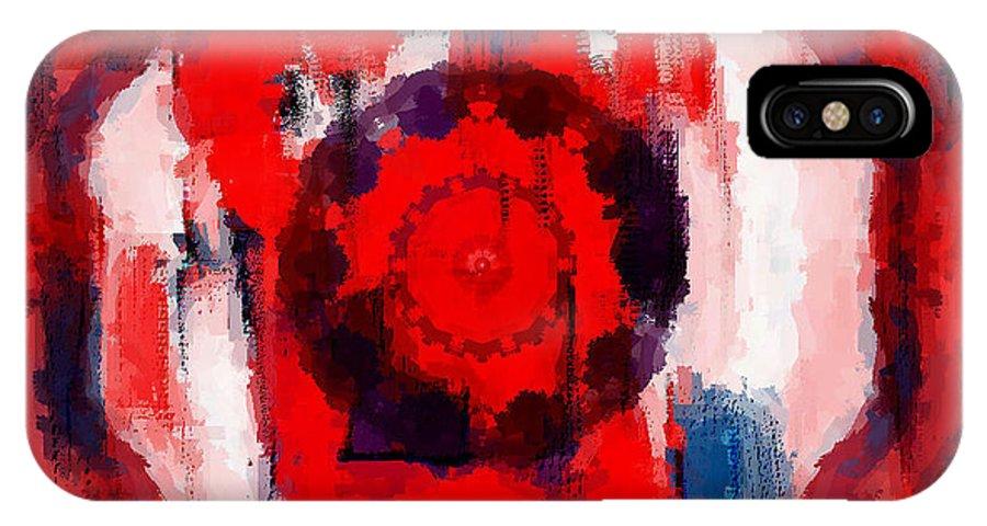 Digital IPhone Case featuring the digital art Abstraktes Kaleidoskop by Ilona Burchard