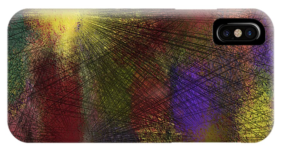Digital IPhone X / XS Case featuring the digital art Abstraktion In Farben by Ilona Burchard