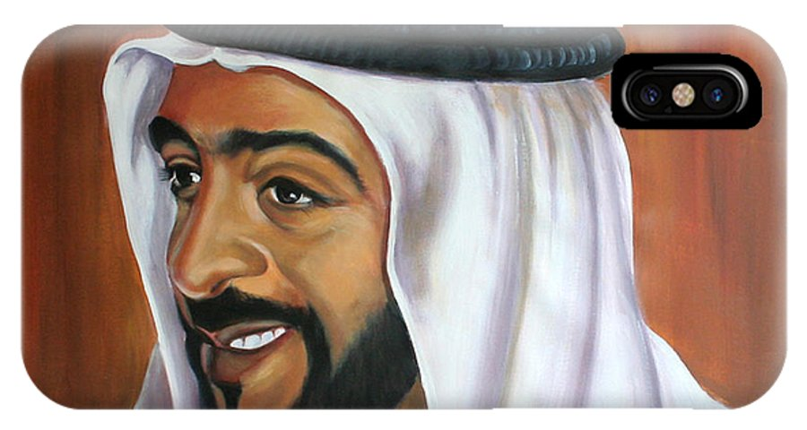 Portrait IPhone Case featuring the painting Abu Dhabi by Fiona Jack