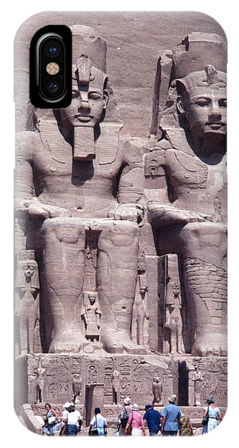 Monument IPhone X / XS Case featuring the photograph Abu Simbel In Egypt by Carl Purcell
