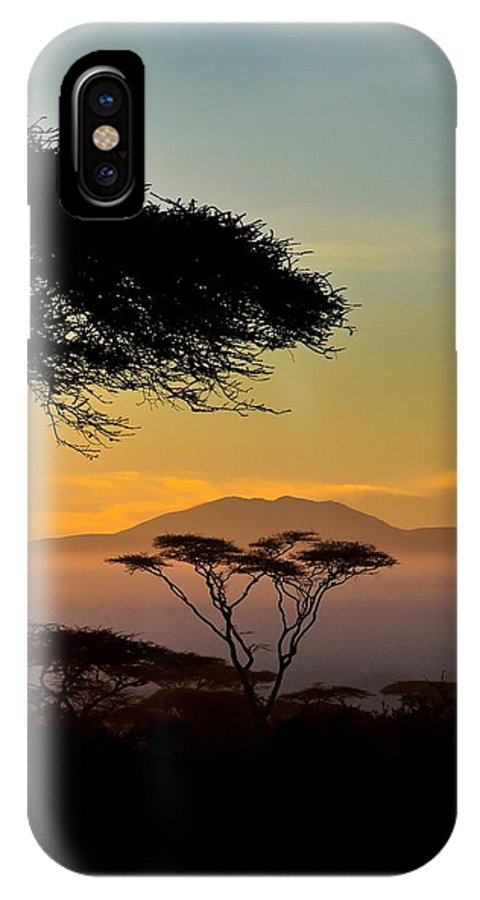 Africa IPhone X Case featuring the photograph Acacia Land by Remy Simon