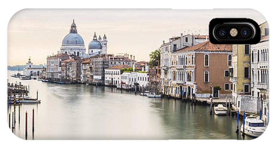 Venice IPhone X Case featuring the photograph Accademia Bridge by Marco Missiaja
