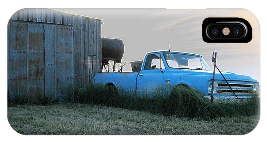 Accentuated Chevy IPhone X Case featuring the photograph Accentuated Chevy by Dylan Punke