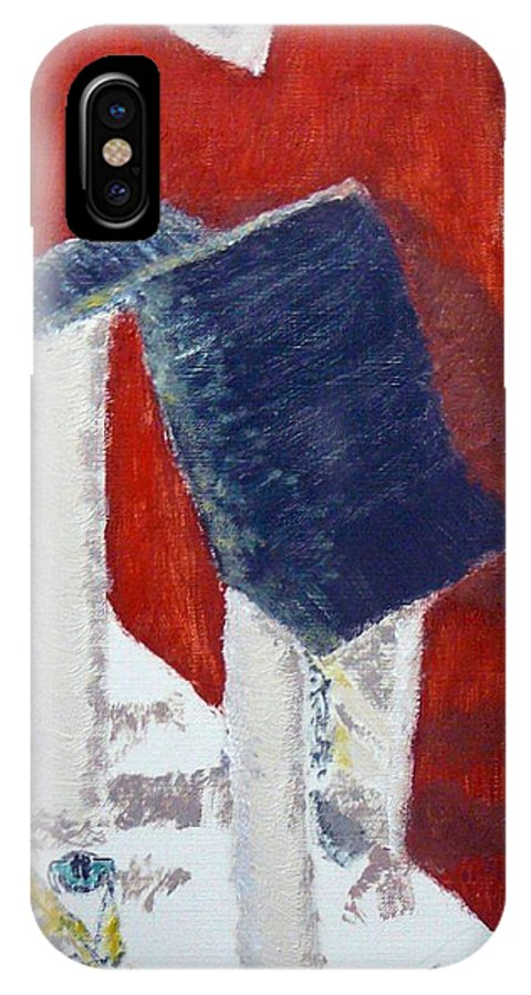 Social Realiism IPhone X Case featuring the painting Accessories by R B