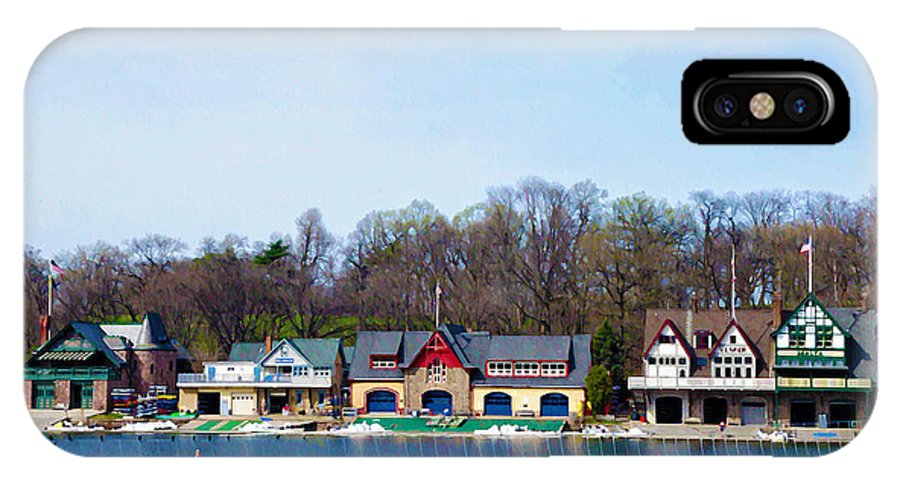 Boathouse Row IPhone X Case featuring the photograph Across From Boathouse Row - Philadelphia by Bill Cannon