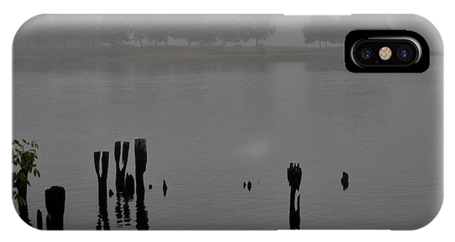 Fog IPhone X Case featuring the photograph Across The Inlet by Barry Doherty