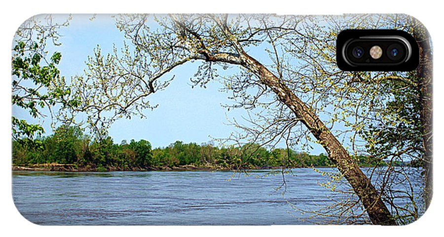 missouri River River IPhone X / XS Case featuring the photograph Across The Wide Missouri by Cricket Hackmann