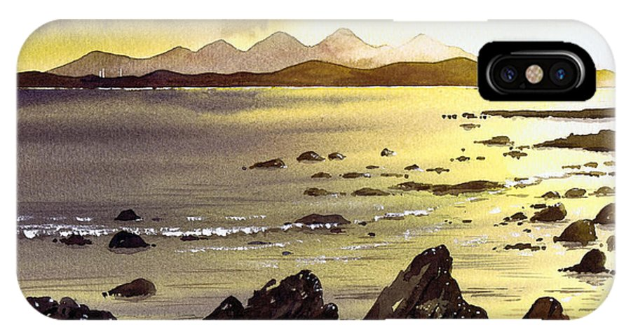 Gigha IPhone Case featuring the painting Across To Gigha And Jura by Paul Dene Marlor