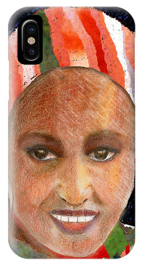 Woman IPhone X Case featuring the digital art Adaeze by Arline Wagner