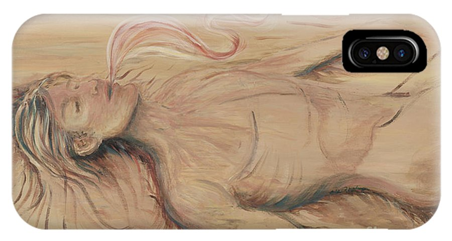 Adam IPhone X Case featuring the painting Adam And The Breath Of God by Nadine Rippelmeyer
