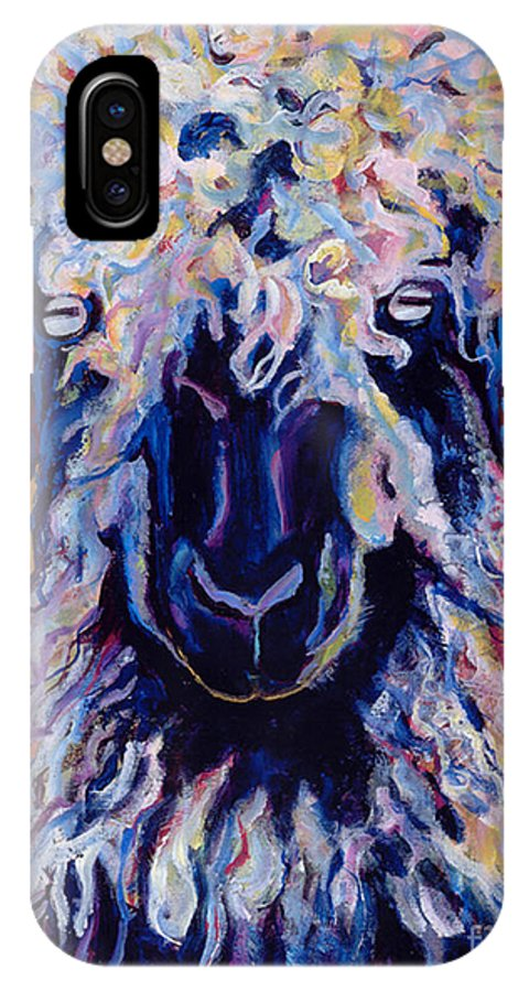 Goat Print IPhone X / XS Case featuring the painting Adelita  by Pat Saunders-White