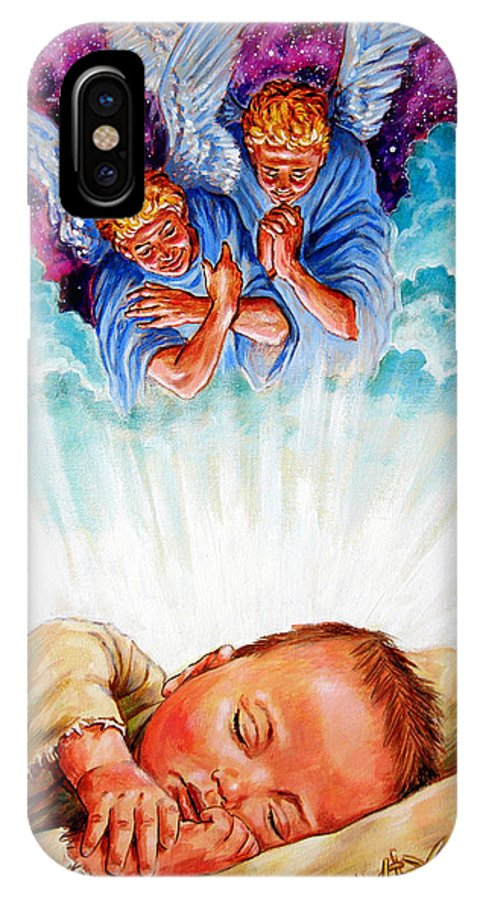 Baby Jesus IPhone Case featuring the painting Adore Your Saviour by John Lautermilch