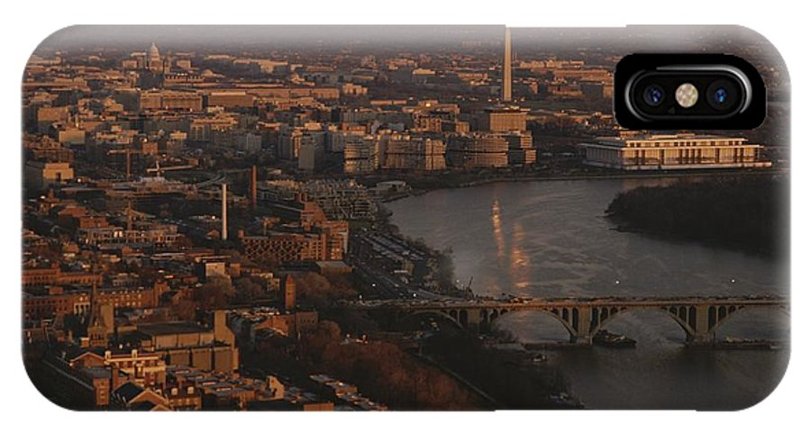 Outdoor IPhone X Case featuring the photograph Aerial View Of Washington, D.c by Kenneth Garrett