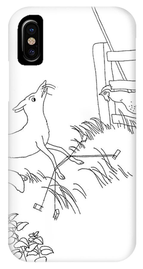 Aesop IPhone X Case featuring the photograph Aesop: Fox And Rooster by Granger