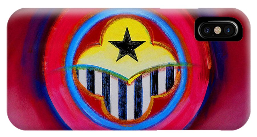 Button IPhone X Case featuring the painting African American by Charles Stuart