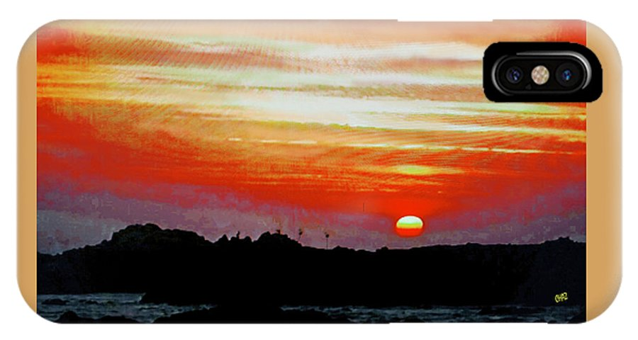 Africa IPhone X / XS Case featuring the painting African Sunset by CHAZ Daugherty
