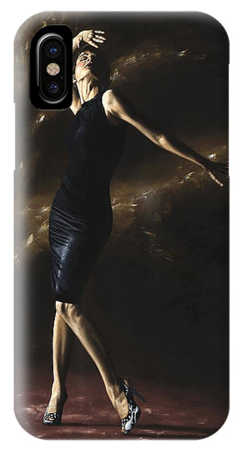Dance IPhone X Case featuring the painting After the Dance by Richard Young
