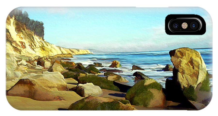 Ocean IPhone X Case featuring the photograph After The Fog Gaviota by Kurt Van Wagner