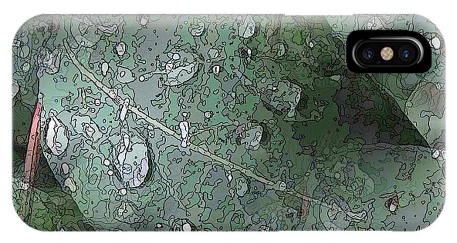 Rain IPhone X Case featuring the digital art After The Rain 4 by Tim Allen