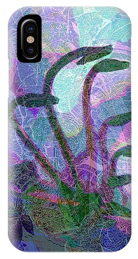 Abstract Plant Life Canvas Print IPhone X / XS Case featuring the digital art After The Rain by Betty Pehme