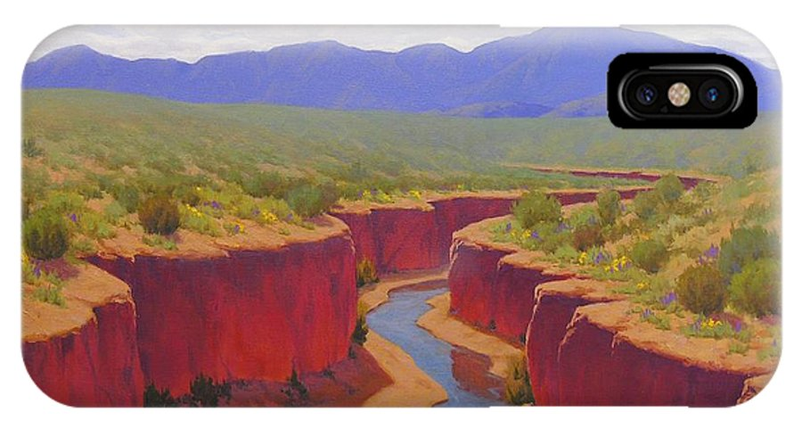 Cody Delong IPhone X / XS Case featuring the painting After The Rain by Cody DeLong