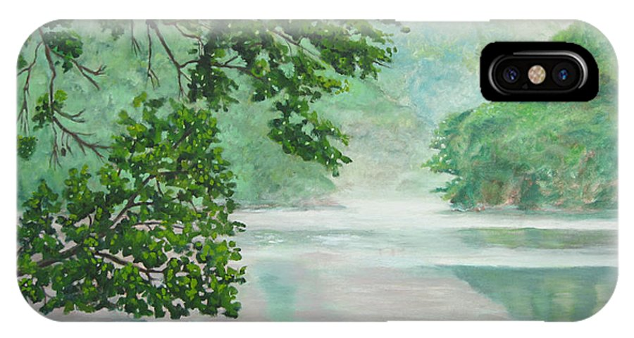 River IPhone Case featuring the painting After The Rain by D T LaVercombe