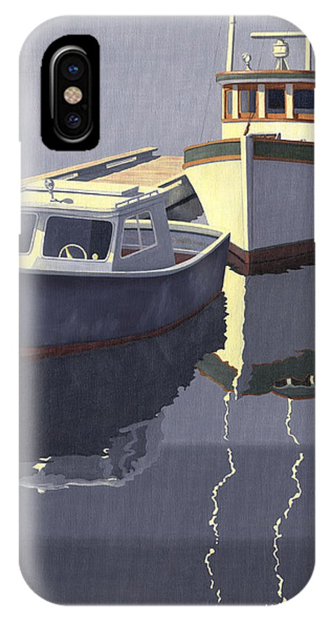 Boat IPhone X Case featuring the painting After The Rain by Gary Giacomelli