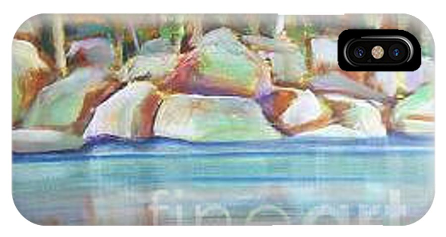 Landscape IPhone X Case featuring the painting After The Rain by Karen Sloan