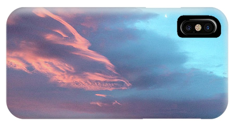 Clouds IPhone X Case featuring the photograph Afterglow by Jennifer McMahon