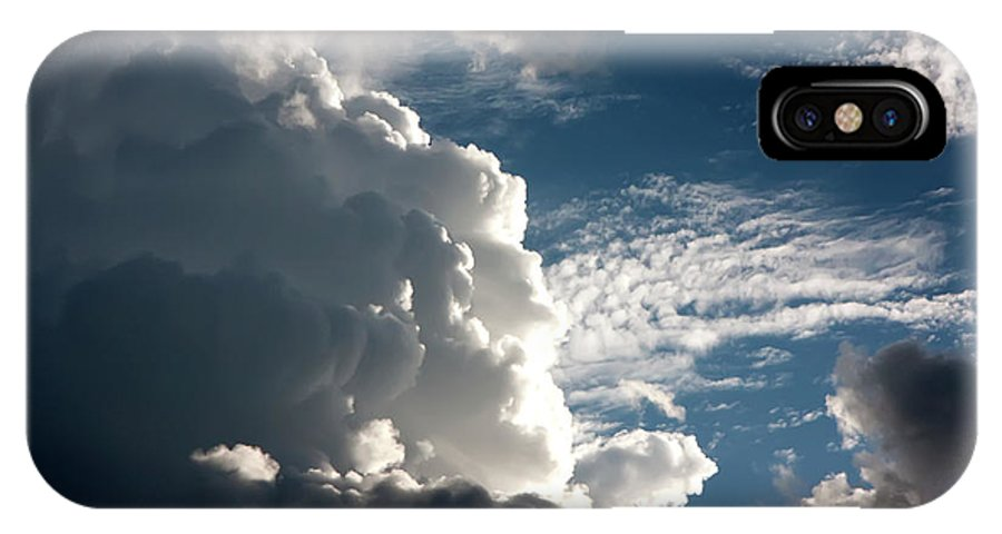 Clouds IPhone X Case featuring the photograph Afternoon Clouds by KG Thienemann