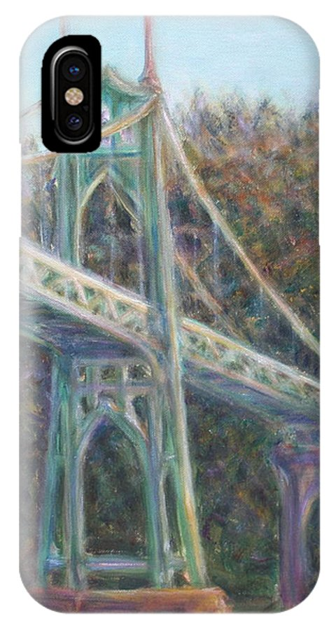 Quin Sweetman IPhone X Case featuring the painting Afternoon Glow On The St Johns by Quin Sweetman