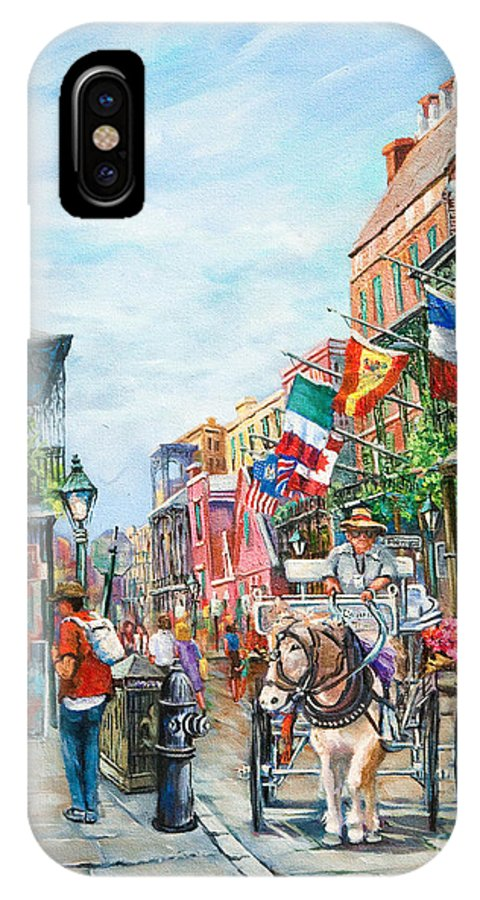 New Orleans Art IPhone X Case featuring the painting Afternoon On St. Ann by Dianne Parks