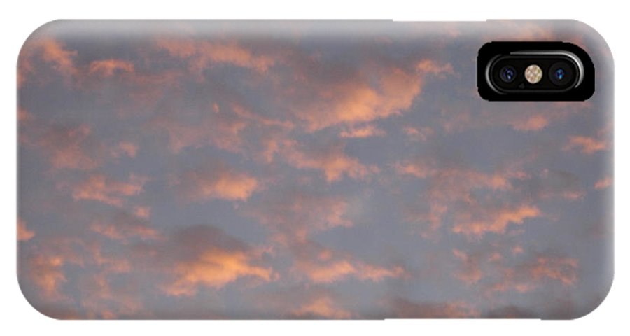Skyscape IPhone X Case featuring the painting Afternoon Sky 11 by Roger Cummiskey